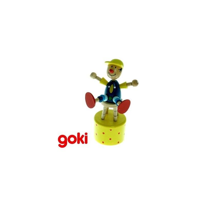 marionnette wakouwa clown jouet en bois enfant 3 ans un jeux des jouets. Black Bedroom Furniture Sets. Home Design Ideas