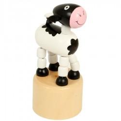 Wakouwha vache figurine articulée en bois