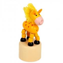 Wakouwha cheval figurine articulée en bois