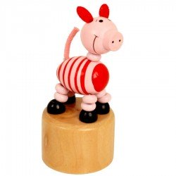 Wakouwa cochon figurine articulée en bois