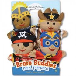 Marionnettes à main Les Héros set de 4 personnages
