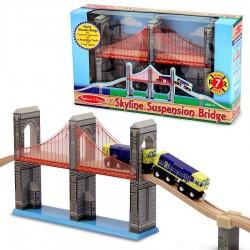 Pont suspendu accessoire de train en bois