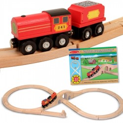 Train en bois circuit en 8