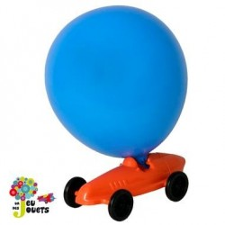 Voiture propulsion ballon Véhicule de course à air Jouet Enfants 4 ans +