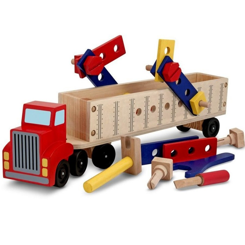 Camion jeu de construction en bois for Construction en bois details