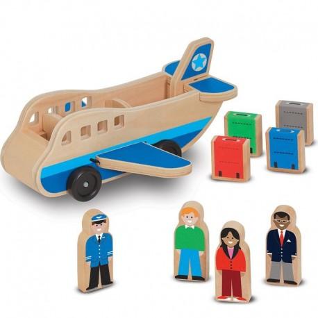 Avion Jouet en bois 9 pièces