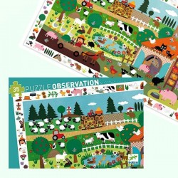 Puzzle Djeco Observation La Ferme 35 pcs 3 ans +