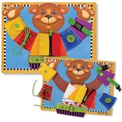Puzzle des fermetures en bois Teddy Bear