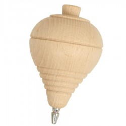 Toupie corde en bois 9 cm à l'ancienne