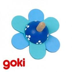 Grande Toupie en bois Bleue Jouet pour enfant 4 ans +