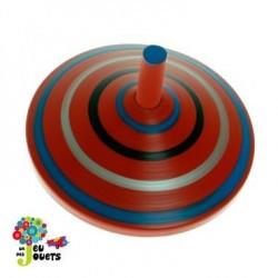 Jouet Toupie en bois Rouge Diamètre 5 cm Enfant 3 ans +