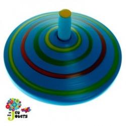 Jouet Toupie en bois Bleue Diamètre 5 cm Enfant 3 ans +