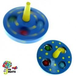 Toupie billes Jouet en bois Diamètre 5cm pour enfant 3 ans +