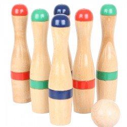 Jeu de Quilles en bois + 3 boules