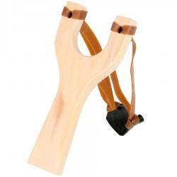 Jouet fronde Lance pierre en bois