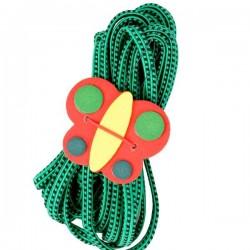 Jeu de l'élastique 500 cm Vert papillon