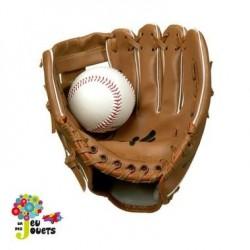Gant de baseball Junior + balle