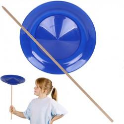 Assiette chinoise débutant Bleue pour jongler Mister Babache 24 cm Jeu de jonglage Enfant