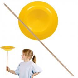 Assiette chinoise débutant Jaune avec baguette Jeu de jonglage Enfants