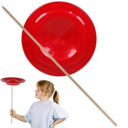 Assiette chinoise débutant Rouge avec baguette Jeu de jonglage Enfants