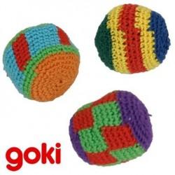 3 Balles de jonglage Kick Ball en Coton Jeu de jonglerie 5 cm