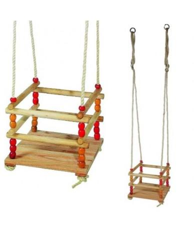 Balançoire en bois pour petits