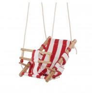 Balançoire en bois et toile de coton pour bébé