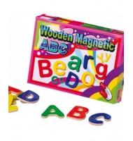 52 Lettres aimantées jouet en bois colorées Majuscule minuscule