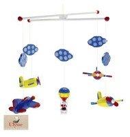 Mobile suspension avion montgolfières décoration chambre enfant