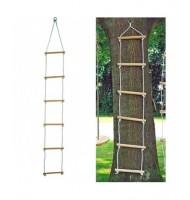 Échelle en bois pour portique 6 barreaux 180x40 cm