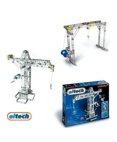 construction grue en metal meccano