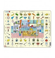 Puzzle éducatif Apprendre l'anglais 70 pcs Larsen Learning English 1