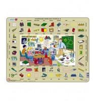 Puzzle Apprendre l'Anglais l'école 70 pièces Larsen Learning English