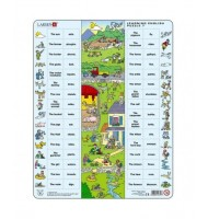 Puzzle Apprendre L'Anglais La Ferme 64 pcs Larsen 7 ans + Learning English