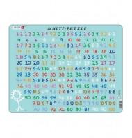 Puzzle Apprendre les Multiplications 81 pièces Larsen Mathématique 8 ans +
