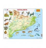Puzzle Catalunya fisica Apprendre en Catalan Puzzle éducatif