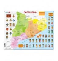 Puzzle Catalunya Politica apprendre le Catalan Puzzle éducatif Larsen