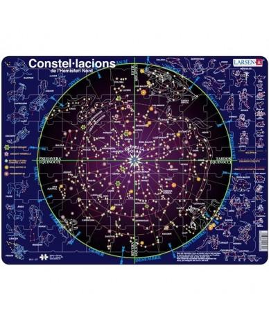 Puzzle éducatif Apprendre les constellations en CATALAN 70 pcs Larsen 9 ans +