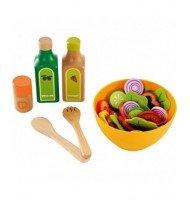 Hape Cuisine Set de salade jouet en bois enfant 3 ans + dinette
