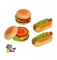 Hape Cuisine Hamburgers et hotdogs jouet en bois enfant 3 ans +