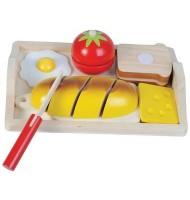 Jouet en bois déjeuner à découper Jeu de dinette Enfant 3 ans +