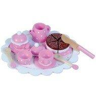 Dinette jouet en bois 18 pcs Plateau de thé Enfant 3 ans +