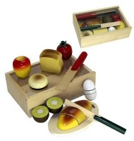 Set petit déjeuner à découper jouet en bois enfant 18 mois +