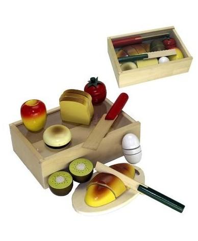 Set petit d jeuner d couper jouet en bois enfant 3 ans for Jouet exterieur 3 ans