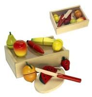 Coffret fruits à découper Jouet en bois dînette enfants 3 ans +