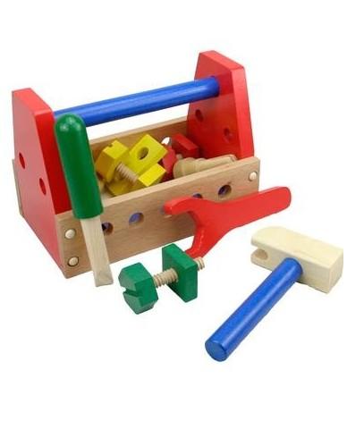 jouet caisse outils en bois pour enfant 3 ans un. Black Bedroom Furniture Sets. Home Design Ideas