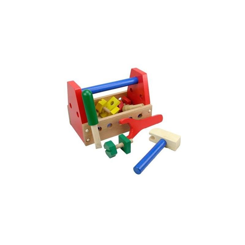 jouet caisse outils en bois pour enfant 3 ans un jeux des jouets. Black Bedroom Furniture Sets. Home Design Ideas