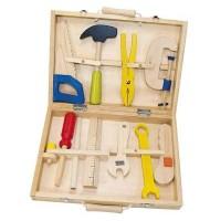 Caisse boite à outils en bois Jeu d'imitation Enfant 3 ans +