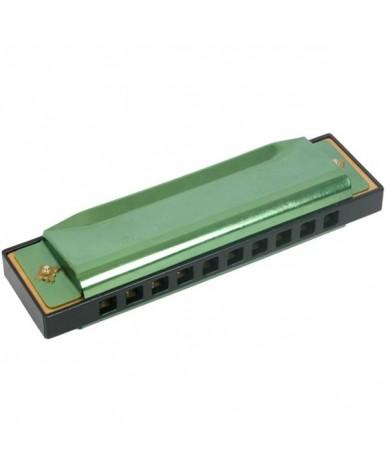 Hamonicas en métal Vert 10 cm Instrument de musique pour Enfants