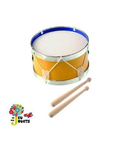 Tambour 17 cm instrument de musique enfant 3 ans +